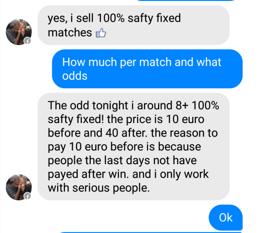 fixed matches convo 1