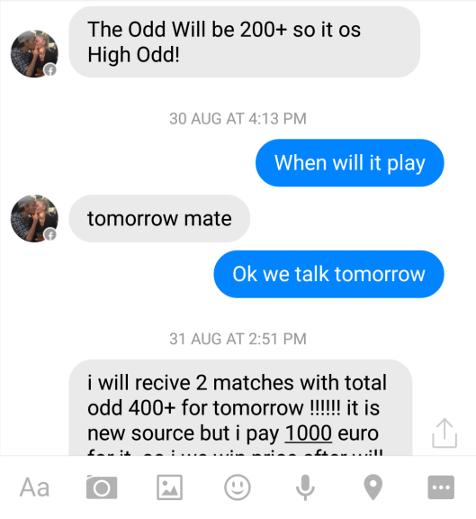 fixed matches convo 10