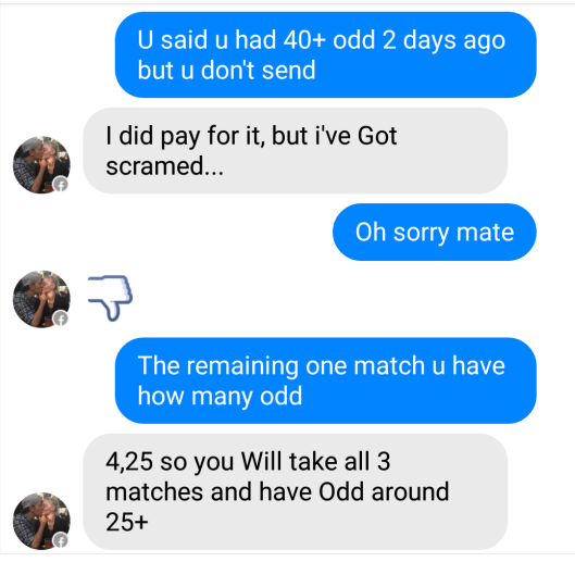 fixed matches convo 12