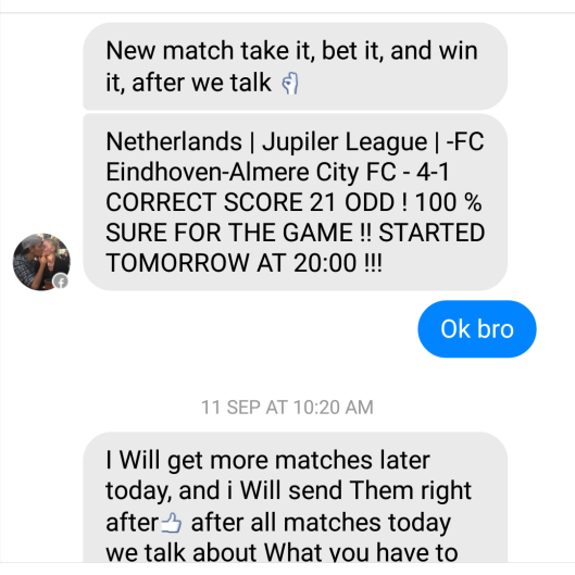 fixed matches convo 13