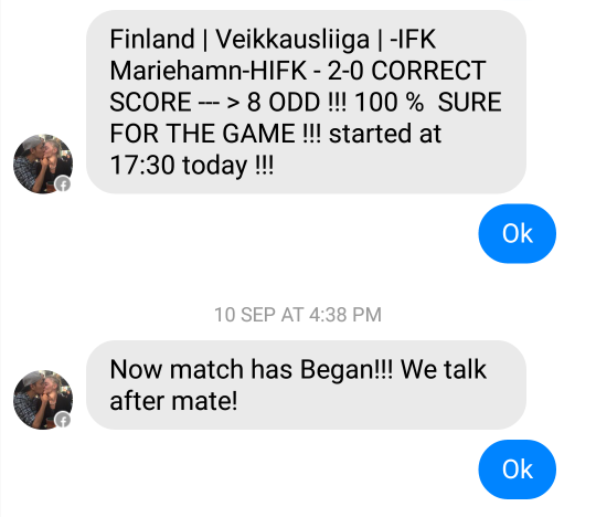 fixed matches convo 14
