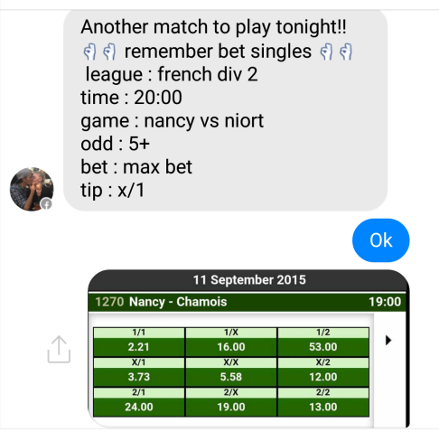 fixed matches convo 16