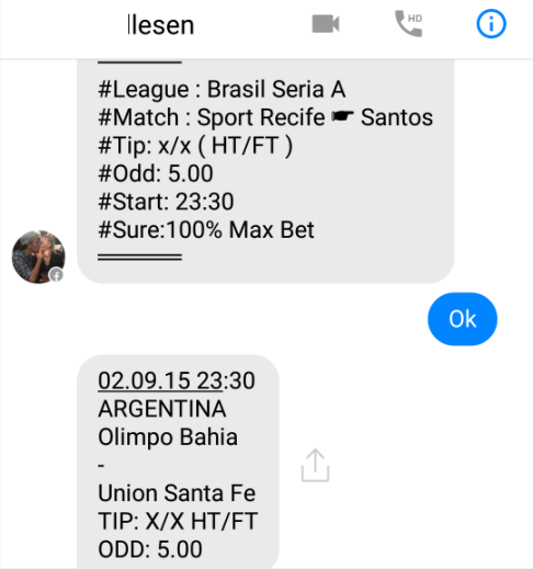 fixed matches convo 5