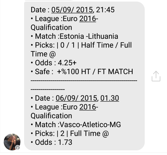 fixed matches convo 7